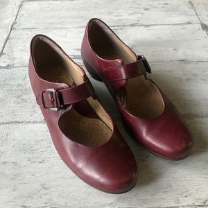 Deep Red Mary Janes.